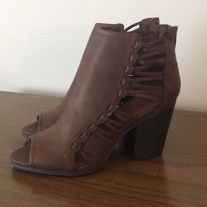 Rampage open toe booties